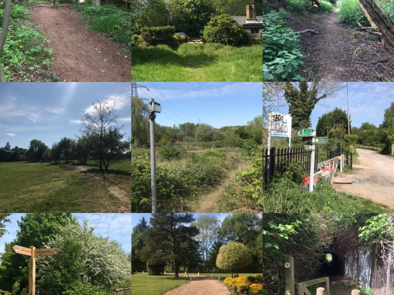 Finding local footpaths