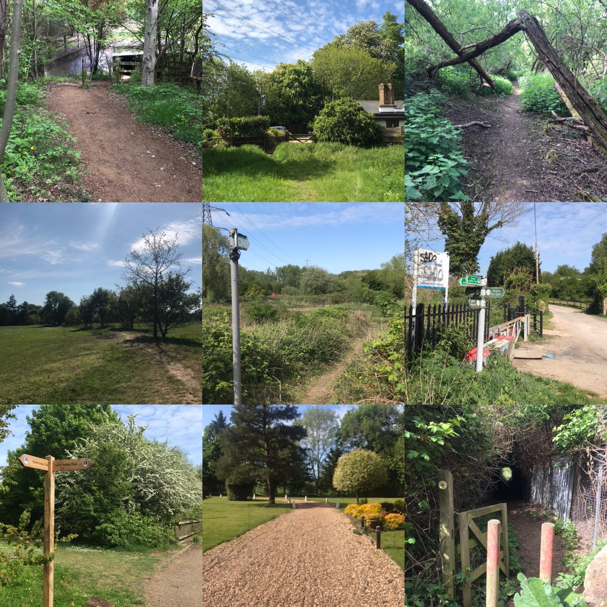 Local footpaths near Richings Park