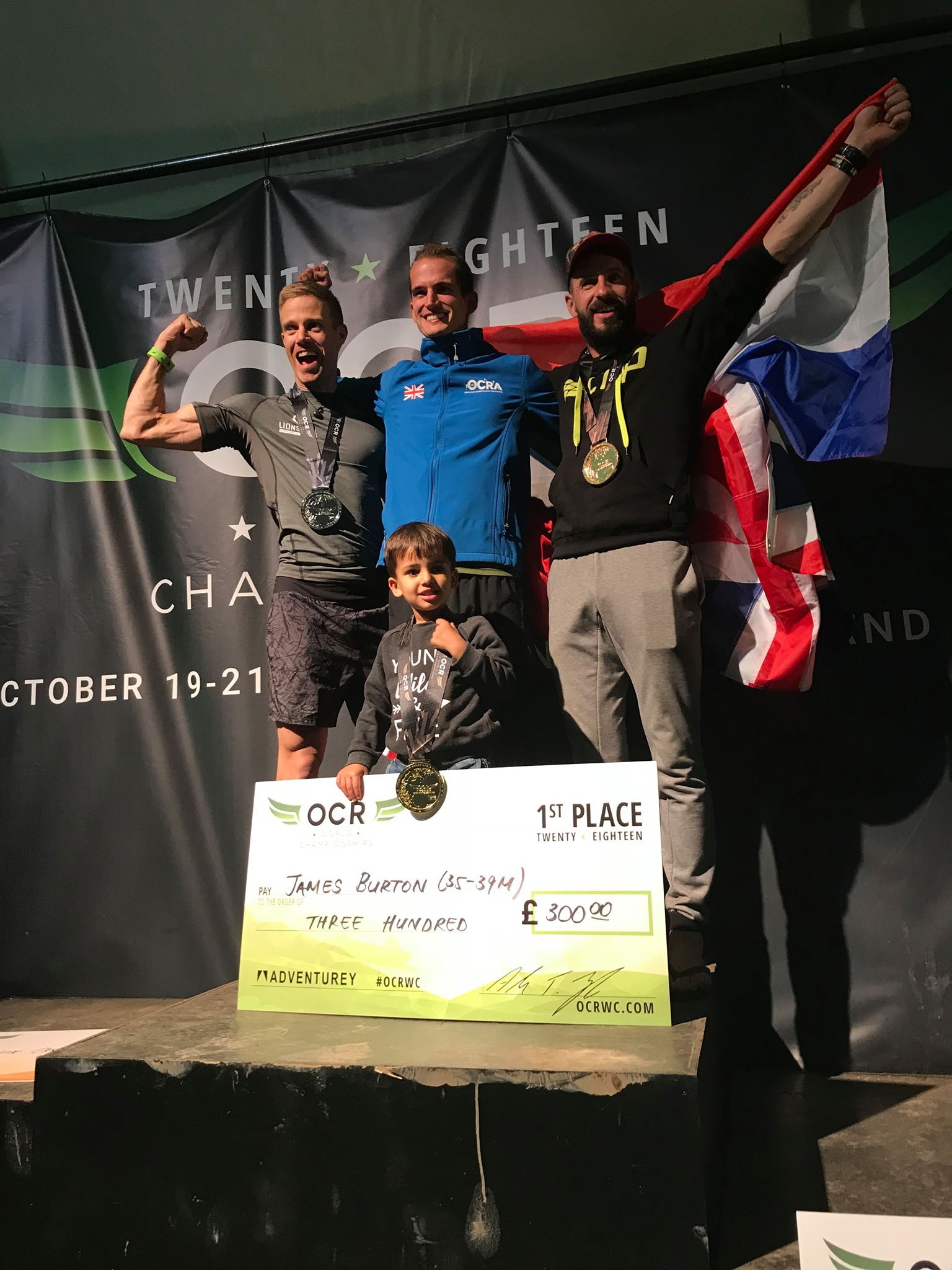 Podium OCR World Championship AG35-39 15K