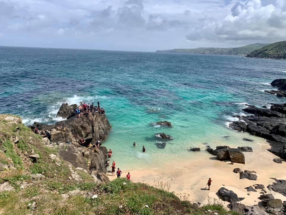 The Man vs. Coast cliff jump. A 2-3 metre jump into the sea.