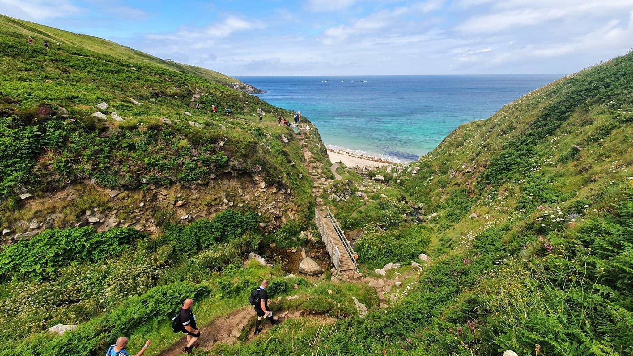 Man vs. Coast route on the South West Coast Path