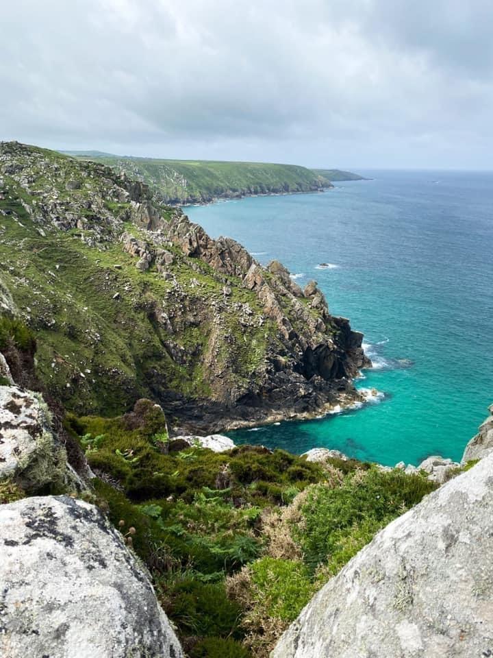 The rugged Cornish coastline on the Man vs. Coast route.